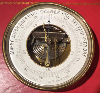A French Marine Barometer by Brevete Paris