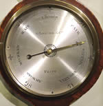 Georgian mahogany Wheel Barometer by G. Lepore & Co