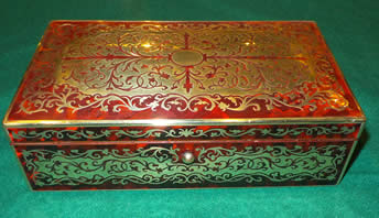 A 19th century scarlet boulle Jewellery Box