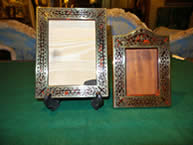 Two 19th century scarlet boulle Photo Frames