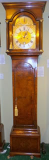 A very fine burr walnut Longcase Clock by John Monkhouse of London