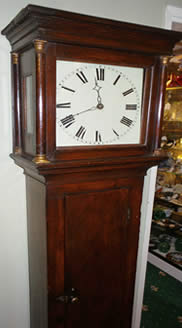 30 hour scumbled pin cottage longcase clock