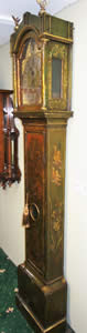 C.1725 green japanned on oak Longcase Clock