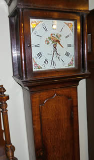 Delightful 30 hour oak longcase clock