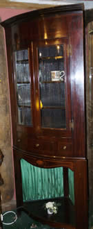 Regency period full height corner cabinet