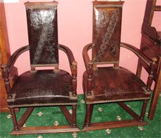 19th Century walnut Caqueteuse Chairs