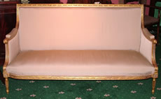 19th century Giltwood Framed Sofa in Louis XVI style